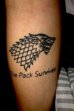 My first tattoo ✨ #gameofthrones #stark