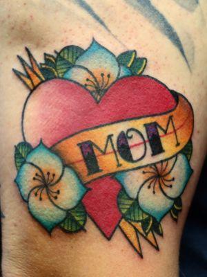 #traditional #mom tattoo. #Custom designed. #florida #brightandbold