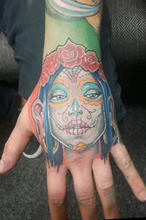 Artist: Viktor Uhlík #slovakia #zvolen #diadelosmuertos #diadelosmuertostattoo #tattoo