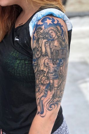 My daughters keep st michael american flag bng 3rl