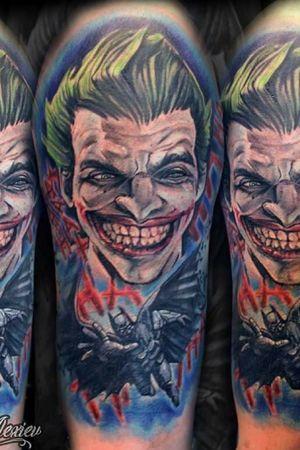 #comic #coverup #joker #batman #colour #color #tattoooftheday #tattoosofinstagram
