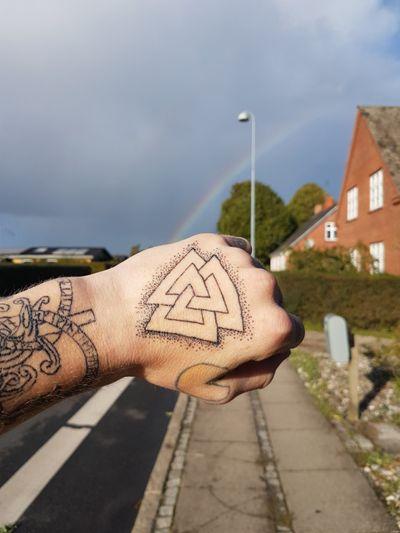 Rainbow 😂 #dotworktattoo #dotworktattoo #norse #NorseTattoos