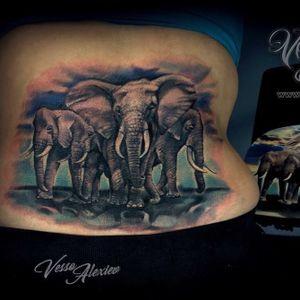 #elephant #animal #tattooofinstagram #tattoooftheday #colour #color