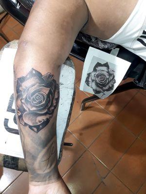 #rosa  #rosas  #RosasTattoo  #rosascomarabescos  #rose  #rosestattoo  #rosesleeve