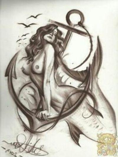 #sexy #mermaid #anchor #nude