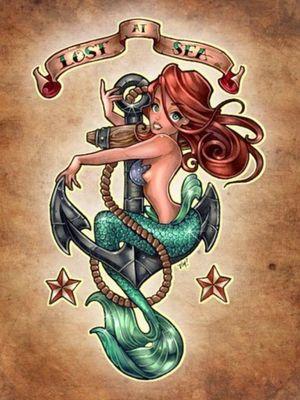 #sexy #mermaid #anchor #redhead #lostatsea