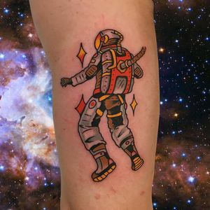 Tattoo by Alex Zampirri aka AZamp #AlexZampirri #AZamp #sparklytattoos #sparkly #glittery #glitter #sparkle #stars #ornamental #beautiful #astronaut #galaxy #stars #space