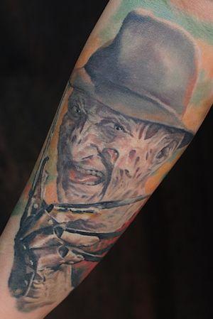 Freddy Krueger #FreddyKrueger#portraittattoos#color#realism#realistic#horror