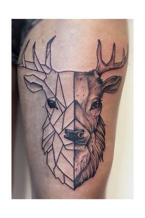 #deer #minimalistic #blackandgrey #Black #linework #lines