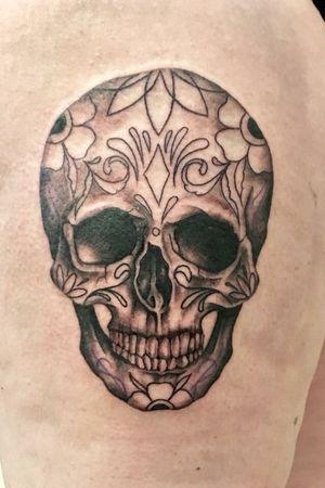 Work inprogress. #skull #skulltattoo #blackandgrey