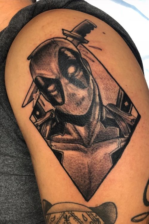 Black&Gray Deadpool 1session