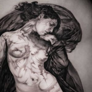 Tattoo by Stefano Alcantara #StefanoAlcantara #ladytattoo #babe #lady #woman #portrait #fineart #sculpture #muse