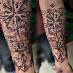 Replace anchor with cross and flip cross and compass? Maybe?