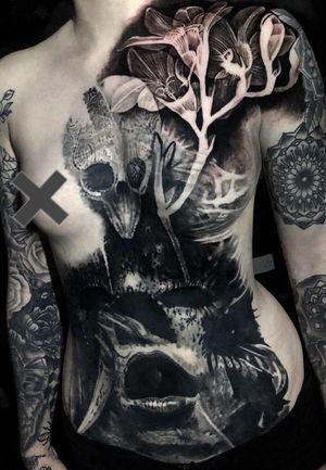 Cover up progress... more soon, on fellow artist Emma. #tattoo #tattoos #tattooartist #BishopRotary #StarWarsTattoos #BlackandGreytattoo #QuantumInk #ImmortalAlliance #SullenClothing #TogetherWeRise #ArronRaw #RawTattoo #TattooLand #InkedMag #Inksav #bnginksociety #BlackandGraytattoo #skinartmag #inkig #tattooistartmag #tattoodo