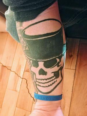 #skull #tophat