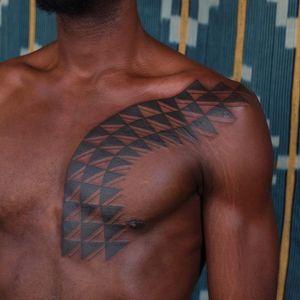 Tattoo by Victor J Webster #VictorJWebster #favoritetattoos #favorite #blackwork #tribal #sacredgeometry #pattern