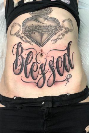 Blessed #script #scripttattoo text 3109010862 for appointments