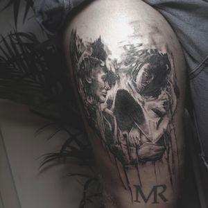 #skull #twoforone #blackandgrey #tatted #tattooart #tattooartist