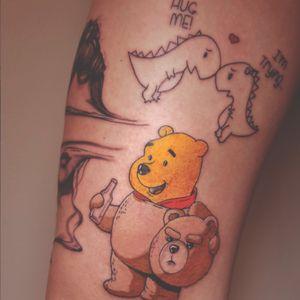 #teddybear #ted #tedtattoo #winniethepooh #winnietattoo #drunktattoo #Drunk #tattoooftheday #ink