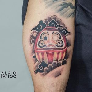 Design and Tattoo by Alfio. . . . #daruma #tattoodesign #design #learning #designtattoo #buenosaires #argentina