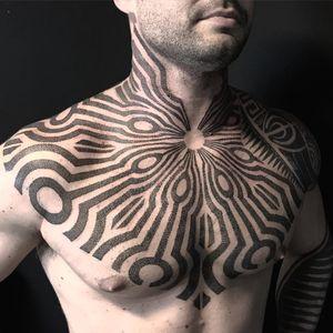 Tattoo by Xnazax #Xnazax #perfectlyplacedtattoos #placement #blackwork #dotwork #sacredgeometry #pattern
