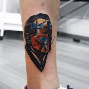 Salvador Dali: face+clocks