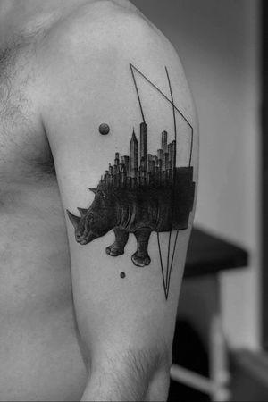 #hippopotamus #linework #geometric #triangle #realistic #blackandgrey #world #alianilercel