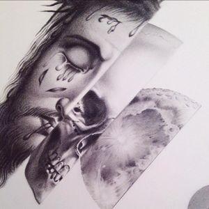 Illustration by Sarah Schor #SarahSchor #illustration #tattooflash #graphite