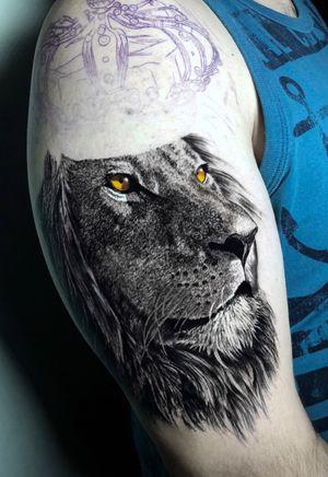 5h de trampo até aqui #liontattoo #lion #animal #king #blackandgrey #blackandgreytattoo #intenzepride