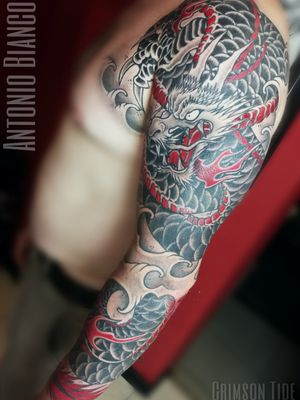 Done! Japanese dragon by @blanktattooart , all black and shading is HEALED. 🔥 Bookings available in September/October, to book your tattoo with us, please send enquiry to: www.tattooinlondon.com 02086821185 Tooting based custom tattoo studio #uktattoo #crimsontideink #ctilondon #japanesetattoo #dragontattoo #dragon #japanesedragon #sleeve #sleevetattoo #fullsleeve #besttattoos #besttattooartists #londontattoos #londontattooartist #tootingtattoo #tattoo #tattoos #tattooedguys #dailytattoo #dailyink #london #русскийлондон #татувлондоне #тату #татуировка #рукав #дракон