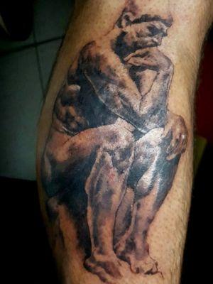 #thinker #tattoo done with #cheyennehawkpen