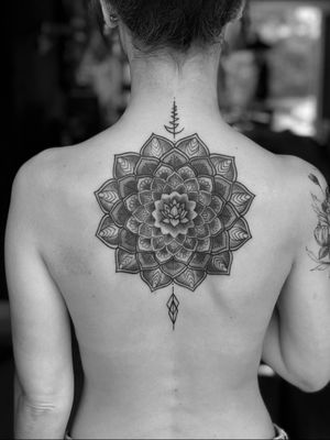 Mandala #mandalatattoo #linework #lotustattoo #blackandgrey