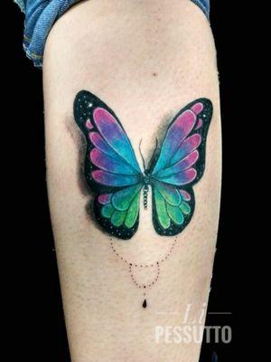 Borboleta exclusiva #buterflytattoo #fullcolor #colortattoo #borboleta #tatuagemcolorida #tatuadoresdobrasil #tatuagensfemininas #tatuagenscoloridas