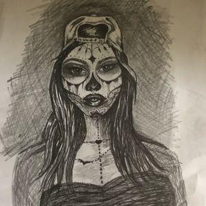 #skullgirl #womanfacetattoo #girl