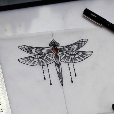 #dragonfly #dragonflytattoo #libelula