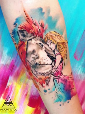 Watercolor lion girl art by inkport tattoo - @inkporttattoo #Москва #moscowtattoo #moscowtattoos #lion #москватату #tattooartist #акварельтату #moscow #watercolor #russia #usa #super #tattoomoscow #tattoo #россия #татуировка #watercolortattoo inkporttattoo #inkporttattoo #россии #татуировкивмоскве #msk #татумастер #dotworktattoo #тату #watercolortattoos #abstract #abstracttattoo #europe #мск moscow watercolortattoo USA Europe