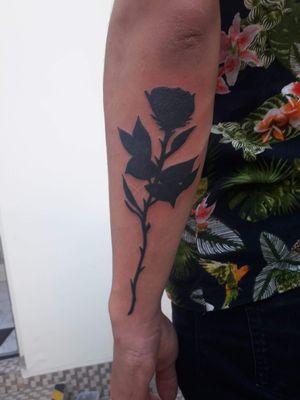 #rose #black #fullblack #hand #tattoo #art