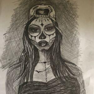 #skretch #skulllady #lady #girl #face #beauty