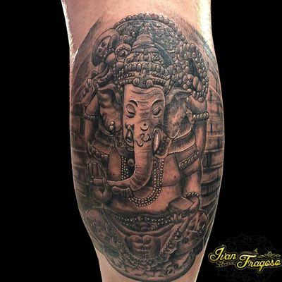 Ganesh ⛩️ #tattooblackandgrey #tattoo2me #tattoo2you #tattoo #ganesha #Tattoodo