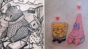 Tattoo on the left by Suflanda and Tattoo on the right by Log Tattoo #cutetattoos #cute