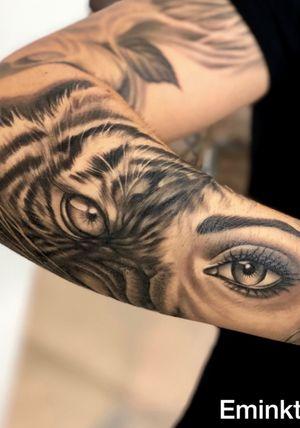 Healed tattoo ! Tatuaggio guarito in 2/3 settimane . 👁Tiger eye 👁 Tattoo by @emink_tattoo Tattuaggio eseguito oggi a Milano all @officinatattoomilano #emink #eminktattoo #milanotattoo #offinicatattoo #blackandwhite #blackandgreytattoo #blackandgray #chucanotattoo #tiger #tigertattoo #eye #eyetattoo #girleye #chicano #chicanotattoo