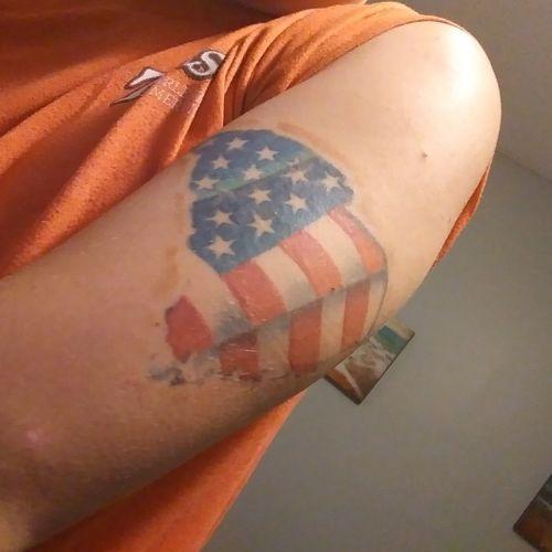 American flag/ south Carolina