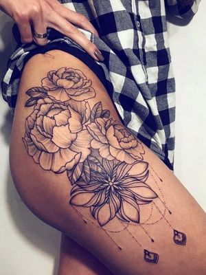 #hip #leg #flowers