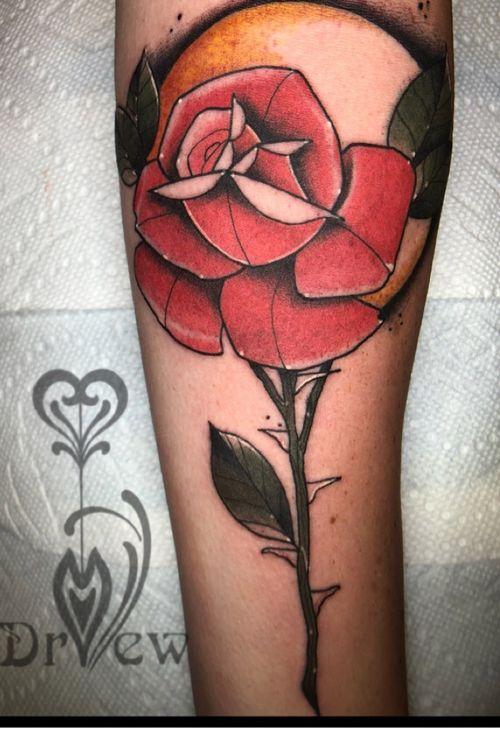 Rose  #tattoodo #neotraditional #tattooartist #rose #flower