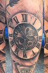 One of my tats #clocktattoo #blackandgrey #7