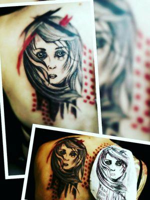 #frau #inkgirl #inked #tattooedwoman #tattooedgirl #tattooed #tattoist #inkgirl #follow #followforfollow#blackgrey #cheyene #black #follower #inkgirl #artist #dreamtattoo #mindblowing #mone1971 #zrashpolka #trashpolka #rot #schwarz