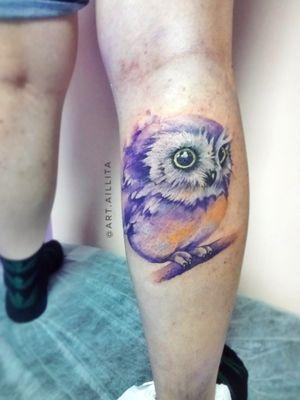 #watercolortattoo #owltattoos #owltattoo #owl #fairytales #purple #owndesign