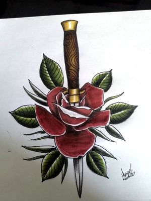 #tattoodrawing#rosetattoo#color