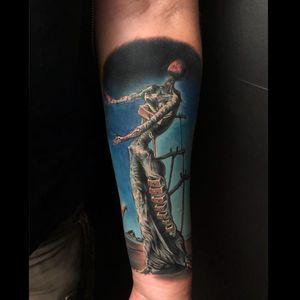 Tattoo by Joshua Anderson #JoshuaAnderson #SalvadorDalitattoos #Dalitattoos #Dali #salvadordali #surrealism #surreal #painter #fineart #color #realism #hyperrealism