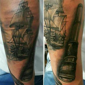 #tattoosea #oceantattoo #OceanTattoos #PirateTattoos #piratetattoo #shiptattoo #greywash #blackandgreytattoo #balckandgreytattoo #blackandgrey #blackAndWhite
